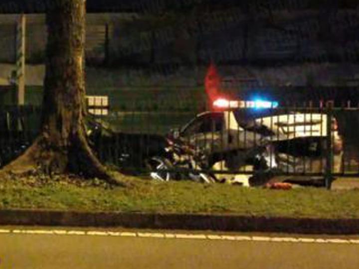 redwire-singapore-drink-driving-crash-police-car