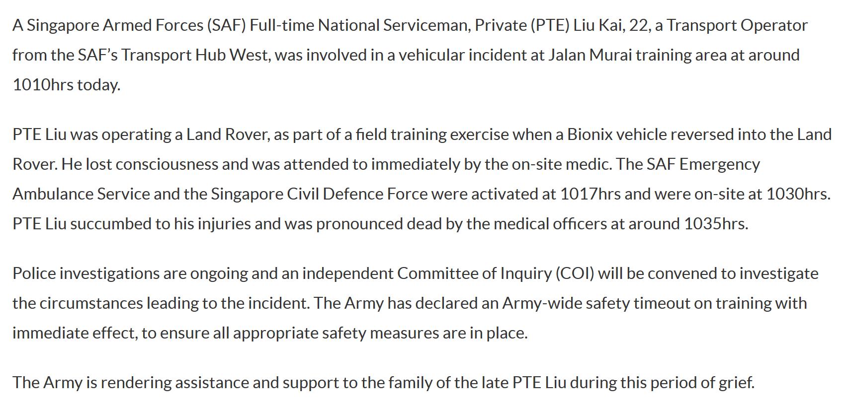 redwire singapore bionix killing liu kai