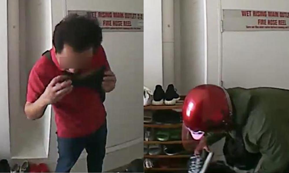 redwire-singapore-bukit-batok-shoe-thief-pervert